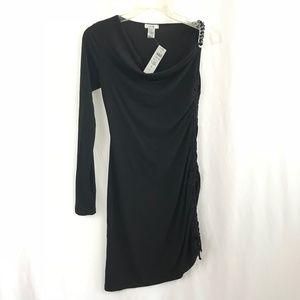 Cache' Black One Shoulder Dress NWT Size XS